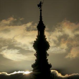 Toren Zonsondergang Foto Piet Van Der Klooster Kopie